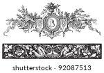 ornaments set   vintage... | Shutterstock .eps vector #92087513