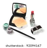 female everyday cosmetics... | Shutterstock . vector #92094167