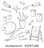 atrists tools | Shutterstock .eps vector #92097188
