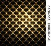 luxury golden fence mosaic | Shutterstock . vector #92098790