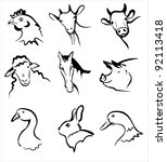 Farm Animals Collection Of...