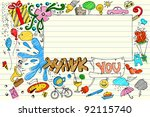 illustration of thank you card... | Shutterstock .eps vector #92115740