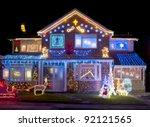 Christmas Lights Outside On A...