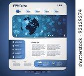 website design template | Shutterstock .eps vector #92129374