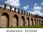 Old Fortress Wall In Smolensk....
