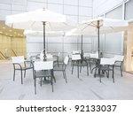 Outdoor Restaurant In Modern...
