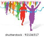 colorful fun run | Shutterstock .eps vector #92136517
