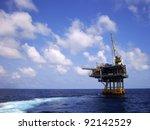 offshore production platform...   Shutterstock . vector #92142529