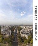 Avenue Foch in Paris, France - stock photo