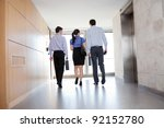 rear view of professional... | Shutterstock . vector #92152780