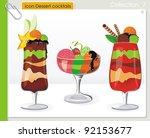 fruits and vanilla cream... | Shutterstock .eps vector #92153677