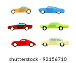 hot rod colorful cars  icon... | Shutterstock .eps vector #92156710