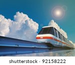 High Speed Monorail Train