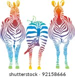 vector illustration of three... | Shutterstock .eps vector #92158666