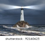 Image Of A Lighthouse With A...