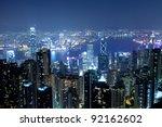 over view of modern city ... | Shutterstock . vector #92162602
