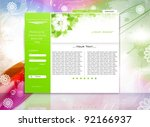green website business template ... | Shutterstock .eps vector #92166937
