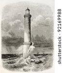 Heaux De Brehat Lighthouse Old...