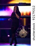 Small photo of PACEVILLE, MALTA - DEC 10 - Christabelle during rehearsals for the Bay Music Awards on 10 December 2011