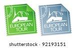 european tour vector tickets. | Shutterstock .eps vector #92193151