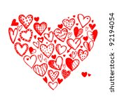 valentine hearts for your design | Shutterstock .eps vector #92194054
