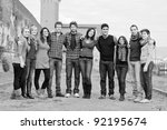 multicultural group of people   Shutterstock . vector #92195674