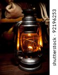 Antique Oil Lamp Lighting Up...