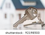 keys with house   Shutterstock . vector #92198503