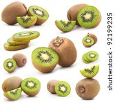 Collection Of Fresh Kiwi...