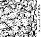 seamless doodle abstract waves... | Shutterstock .eps vector #92199886