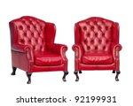 luxury vintage red armchair on...