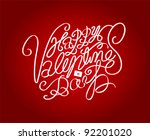 valentine's day love type | Shutterstock .eps vector #92201020