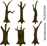 illustration tree trunk | Shutterstock .eps vector #92204194