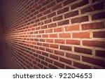 Close Up Of Brick Wall Ending...