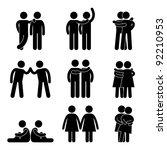 homosexual gay lesbian sex... | Shutterstock . vector #92210953