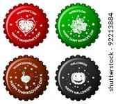 anniversary bottle caps against ... | Shutterstock .eps vector #92213884