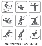 set of sport icons. vector... | Shutterstock .eps vector #92223223