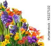 Stock photo spring flowers background 92227132