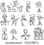 set of music vector icons | Shutterstock .eps vector #92229871