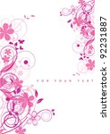 abstract flowers background... | Shutterstock .eps vector #92231887