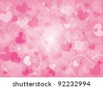 valentine's day background with ... | Shutterstock .eps vector #92232994