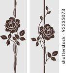 decorative vintage roses... | Shutterstock .eps vector #92235073