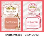 love you card | Shutterstock .eps vector #92242042