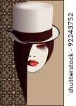 woman in hat | Shutterstock . vector #92243752
