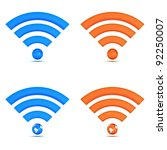 3d wifi icon collection... | Shutterstock . vector #92250007