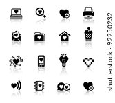 set valentine's day icons  love ... | Shutterstock .eps vector #92250232