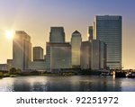 Skyline Of Canary Wharf In...