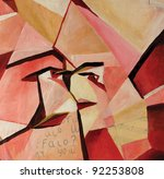Synthetic Cubism Showing A Fac...