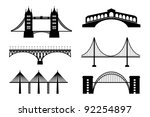 set of bridge | Shutterstock .eps vector #92254897
