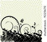 grunge floral vector background | Shutterstock .eps vector #9225670